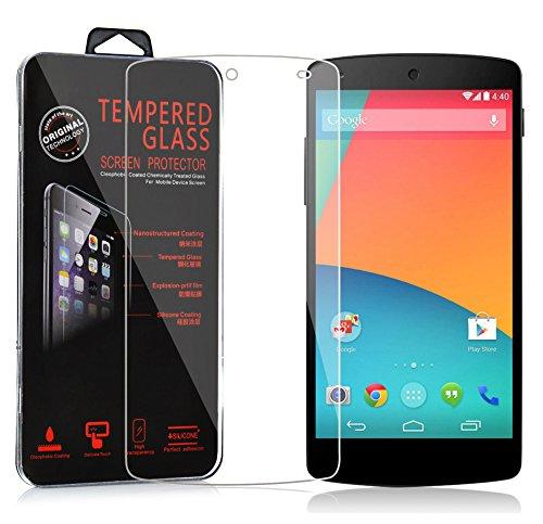 Cadorabo Panzerglasfolie für LG Google Nexus 5 - Schutzfolie in KRISTALL KLAR - Gehärtet (Tempered) Bildschirmschutz Glas in 9H Festigkeit mit 3D Touch Kompatibilität
