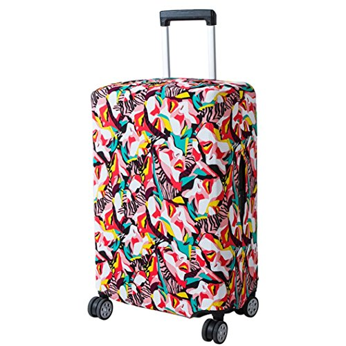 Makaor Luggage Cover,18-20 Inches Spandex Travel Luggage Cover Elastic Dust-Proof Travel Bag Suitcase Cover (G, Size: 18-20' (Apply to 18 to 20 inch suitcases))