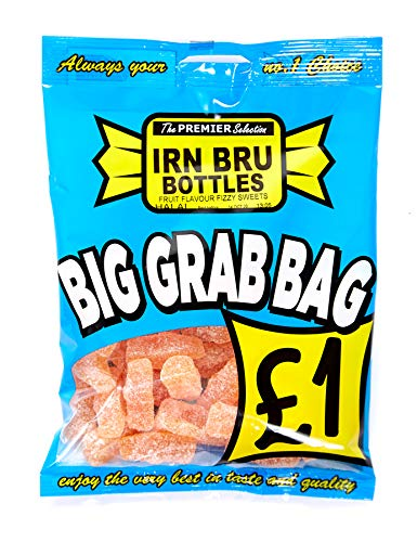 10 x 150g Made with Irn Bru Bottle Sweets Big Grab Bags Halal Sweets