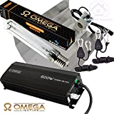 600w Omega Dimmable Digital Ballast Grow, Flower Light Kit, Reflector Hood, HPS Dual Spectrum Bulb