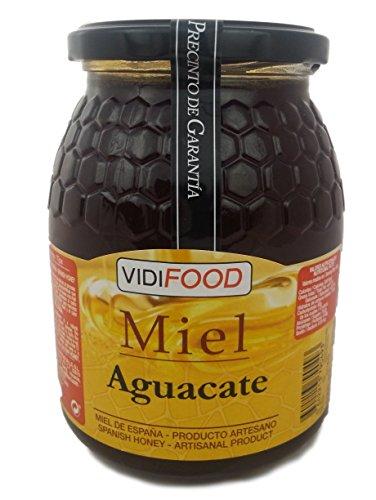 Avocado Roher Honig - 1kg - In Spanien gesammelt - Feinste Qualität, Hausgemacht & 100% rein - Blumiges Aroma und reicher, süßer Geschmack - Große Vielfalt an leckeren Geschmäckern