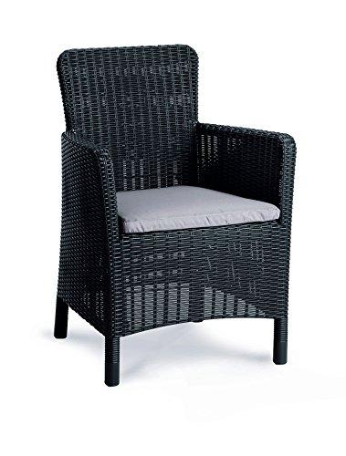 BEST Dining de sillón Venezia, Grafito/Gris Claro, 62x 60x 89cm,
