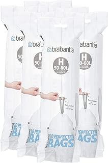 Brabantia 246784 Type H Roll of 10 Bin Liners, Fits Bins of 50-60 Liter (Pack of 6 Rolls)