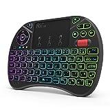 Rii (Nouveauté) Mini Clavier X8 Wireless Français (AZERTY) Ergonomique sans Fil avec Touchpad - pour Smart TV, Mini...