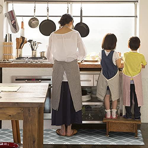 Kitsureキッチンマット拭ける台所マット防水防汚厚さ1cm滑り止め加工踏み心地良いお手入れ簡単キッチン・ランドリー・オフィス・室内・室外に対応