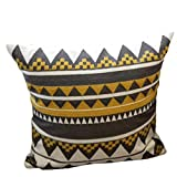 ONGLOLH Cojines con Fundas Cubiertas Amarillas Estilo geométrico Decorativo Cojín Cuadrado de Almohada con Almohadillas rellenas Core Fundas de Almohada,Manny Wong-45 * 45cm (Set)