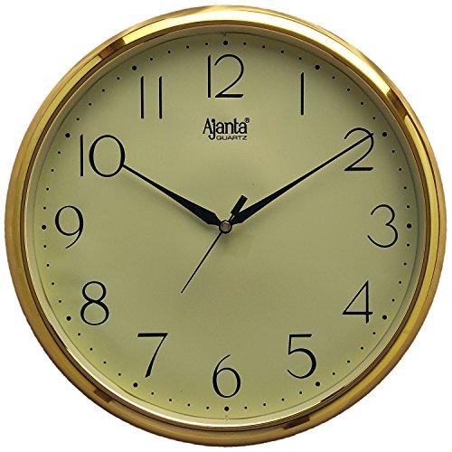 Ajanta Plastic Wall Clock (28 cm x 28 cm x 3.4 cm, Ivory)