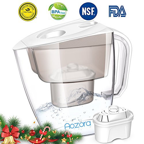 Water Filter Pitcher – Large Water Purifier Pitcher with Chlorine Removal Filter, BPA Free Water Filtration Pitchers for Home Baby, 4 Stage Filtration System Water Pitcher, 3.5L Capacity, Clear.
