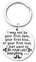 Husband Wife Keychain Gifts for Anniversary Birthday Wedding Gifts Girlfriend Boyfriend Key Chain Gifts for Him Her Couple Lovers My First Love Gifts His and Her Gifts