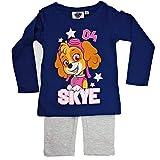 PAW PATROL Pijama de manga larga para niña azul oscuro 128