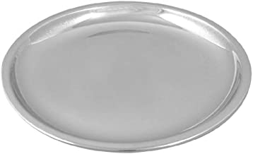 طبق عشاء صلب نحاسي من Bona fide من Tali ، أواني تقديم الطعام | قطر 27.94 سم النحاس الصلب لوحة عشاء ثقيلة ، لوحة نحاسية