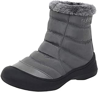 RizaBina Comfort Mid Heels Ankle Boots Winter Warm Thick Bottom Boots