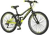 Bicicletta per bambini [18 pollici verde/20 pollici rosso] regalo per ragazzi a partire dai 7 anni con supporto per bicicletta per bambini (24 pollici nero/verde)