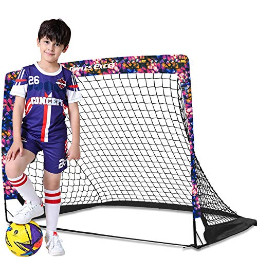 Dimples Excel Football Goal Pop up Football Net Post for Kids Garden Football Training 1 Pack
