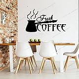 Zdklfm69 Adhesivos Pared Pegatinas de Pared Café Cita en inglés Vinilo Pegatinas de Cocina Pegatinas Decorativas para el hogar PVC Comedor Tienda 76x133cm