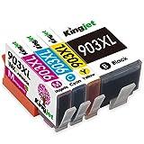 Kingjet Nuovo Chip 903XL Compatibile HP 903 903XL Cartucce d'inchiostro per HP OfficeJet pro 6950 6970 6960 All-in-One stampante (Nero/Ciano/Magenta/Giallo)