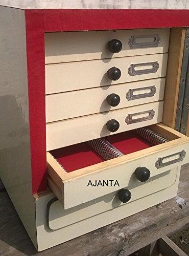 Ajanta Wooden Microscope Slide Storage Cabinet For 500 Slides Brand New