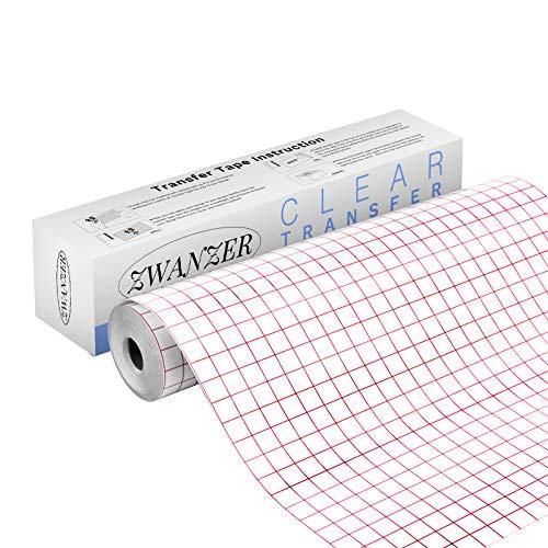 Zwanzer Transferfolie Plotter für Vinyl -30.5 * 1480cm Übertragungsfolie Plotter für Abziehbilder, Schilder, Fenster, Aufkleber