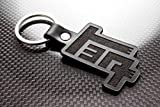 Handmade Leather Keychain Keyring compatible with TEQ Key Fob (Die Cut)