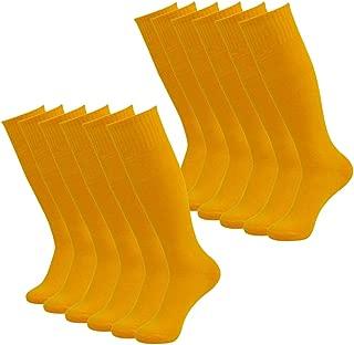 Soccer Socks, Getspor Unisex Team Sports Football Long Tube Knee High Socks 2-12 Pairs