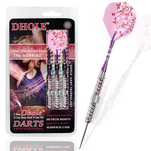 CUESOUL DHOLE Steel Tip Ladies Darts with Aluminum Shafts, 23 Grams F1206