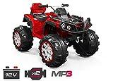 Kinder Elektro Offroad ATV Geländewagen 2x 35W 12V Auto Quad Kinderfahrzeug (Rot)