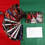 30 Pezzi/Set Serie di Cartoline Regalo di Natale Cartolina d'auguri di Buon Natale Fai-da-Te Biglietto Messaggio Regalo di Natale e Capodanno