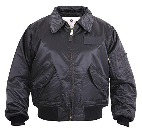 ROTHCO Cwu-45P Style Flight Jacket - Black