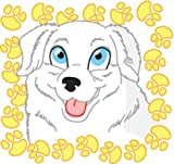 Bambinella Bügelbild Aufbügler - gedruckte Velour/Flock Applikation zum selbst Aufbügeln - Motiv: Hund im Pfotenrahmen - Set 7 - Made in Germany