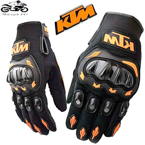 KTM Sweating-Proof Full Grip Hand Safety Gloves for Riding for Men and Women (Black and Yellow, Large)
