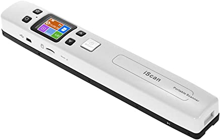 Aibecy iScan02 Document Scanner Portable Handheld Wand Document/ Book/ Images 1050DPI Resolution High Speed Scanning A4 Size JPEG/ PDF Format Colorful LCD Display for Office Business Reciepts