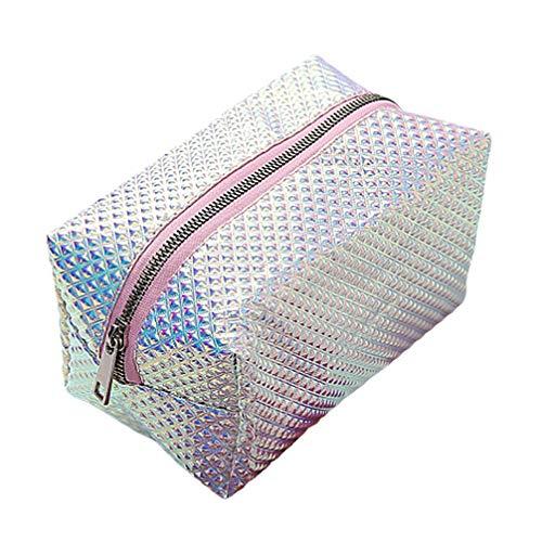 TENDYCOCO Kosmetiktasche Hologramm große Kapazität wasserdicht Make-up Pinsel Kulturbeutel Reisetasche