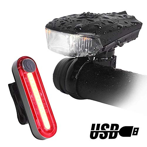 Unigear Luces Bicicleta Sensor Inteligente Luz Delantera y Trasera 400 Lúmen