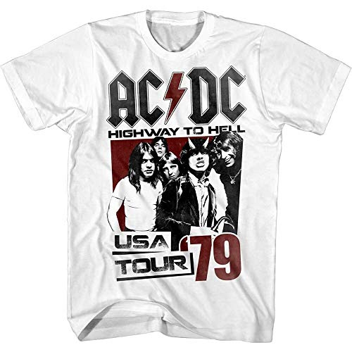 ACDC Highway to Hell USA Tour 1979 Men's T Shirt Vintage Rock Band Album Merch