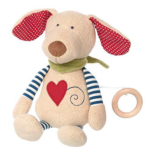 sigikid, Mädchen und Jungen, Spieluhr, Stofftier Hund, Organic Collection, Mehrfarbig, 40844