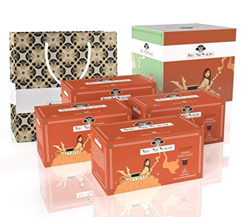 Antico Caffè Novecento Blend Giovanna Italian Espresso en cápsulas compatibles con el sistema Nespresso - 64 cápsulas (320 gramos)