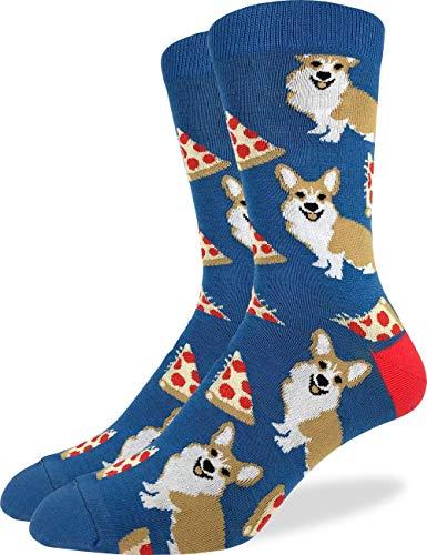 Good Luck Sock Corgi - Calcetines de pizza para hombre, talla 13-17, grande y alto
