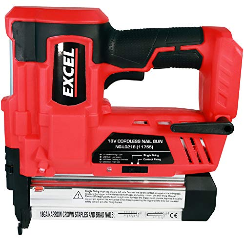 Excel EXL592B 18V Cordless 2nd Fix Brad Nailer Stapler Nail Gun Body Onl