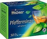 Meßmer Pfefferminze | 50 Teebeutel | Vegan | Glutenfrei | Laktosefrei