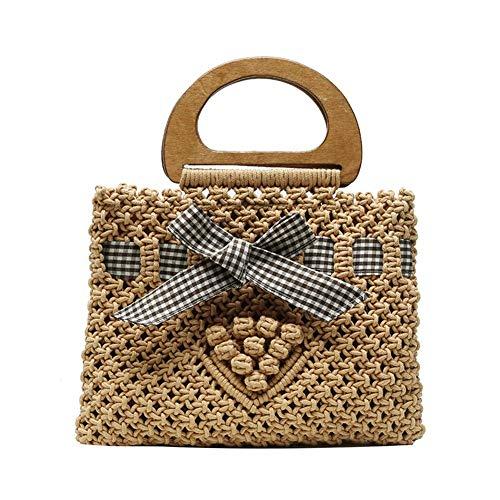 chifans Strohsäcke für Frauen, handgewebte große Strohhülle Retro Summer Beach Tasche Einkaufstasche für den täglichen Einkauf