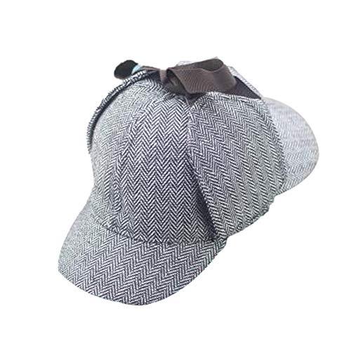 BYFRI Sherlock Holmes Hat Detective Hat Deerstalker Für Erwachsene & Kinder