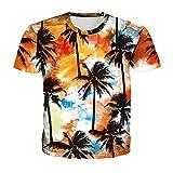 Camiseta Hombre Impresión 3D Novedad Creativa Patrón Único Cuello Redondo Manga Corta Moda De Verano Casual Suelta Cómoda Personalidad Hombres Camisa Deportiva TD01 XL