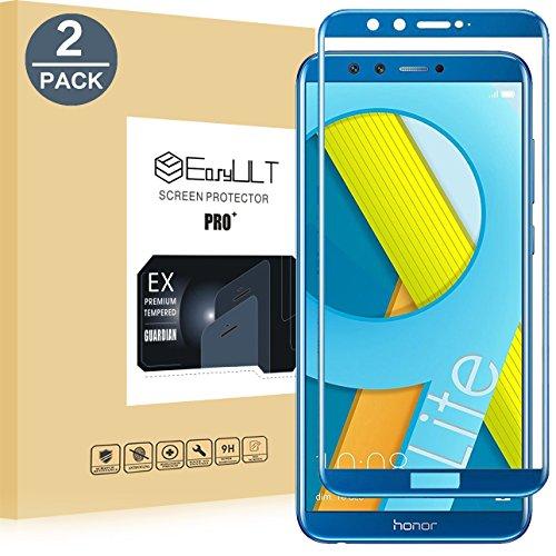 EasyULT Pellicola Protettiva per Honor 9 Lite [2-Pack], Copertura Completa Pellicola Protettiva in Vetro Temperato per Honor 9 Lite-Blu