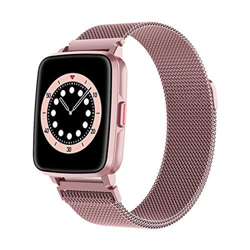 VBF SmartWatch, Bluetooth, I68 de Hombres y Mujeres I68, Ritmo cardíaco, Monitor de calorías, Toque Fitness Tracker Sports Smart Watch para Android iOS,A