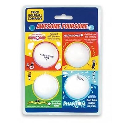 Trick Golf Balls Awesome Foursome Set of 4