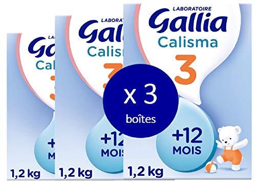 Laboratoire Gallia Calisma 3 - Lait de Croissance (3ème age) en poudre pour les bébé dès 12 mois - 3 packs de 1,2 kg