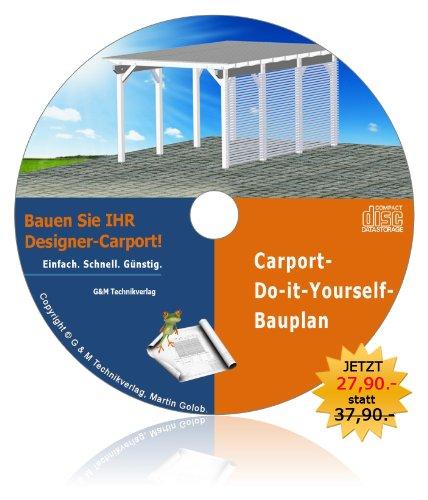 Designer-Carport-Bauplan. Spitzen-Carport selber bauen!