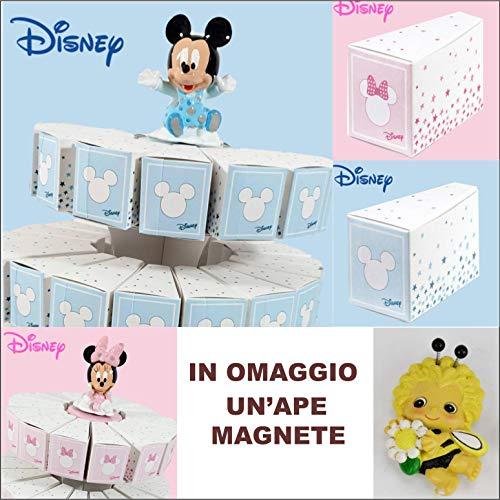 Bomboniere Disney Nascita Battesimo Maschio o Femmina Minnie o Topolino (31 fette + Carillon)