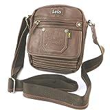 Bolsa de hombro 'Lois Jean'de color marrón - 22x19.5x5.5 cm.