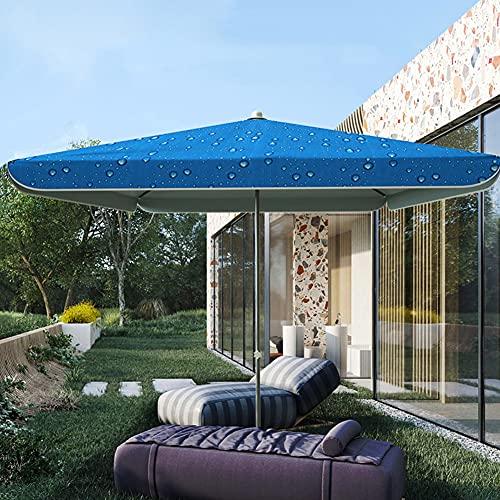 ELLENS Sombrilla de jardín Cuadrada de 2M × 2M, Sombrilla de Playa para Patio al Aire Libre, Sombrilla para sombrilla para jardín, terraza, Patio Trasero, Piscina, UV50 +